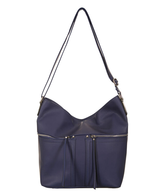 Bucket Zipper Crossbody Bag, Soft Indigo, hi-res