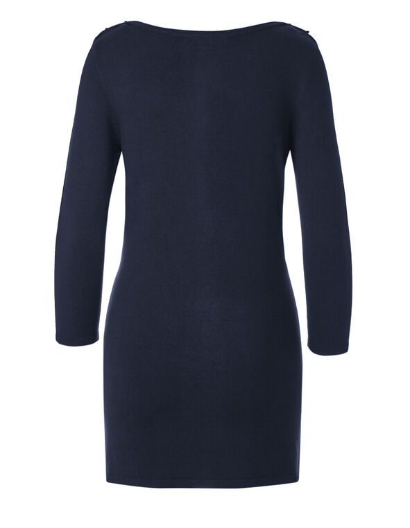 Navy Tunic Sweater, Navy, hi-res