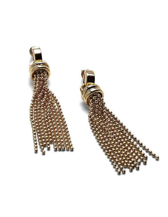 Gold Tassel Earring, Gold, hi-res