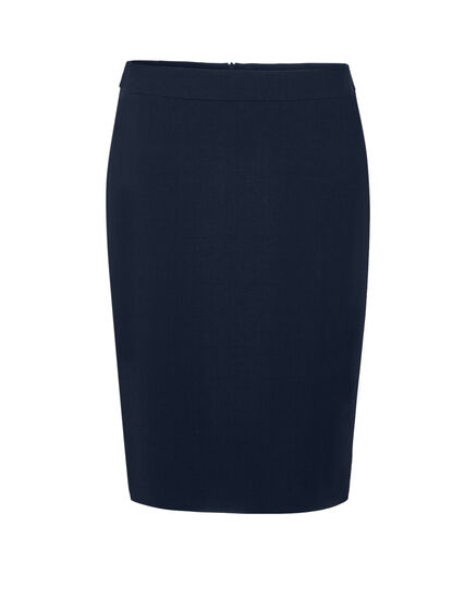 Navy Suiting Pencil Skirt, Navy, hi-res