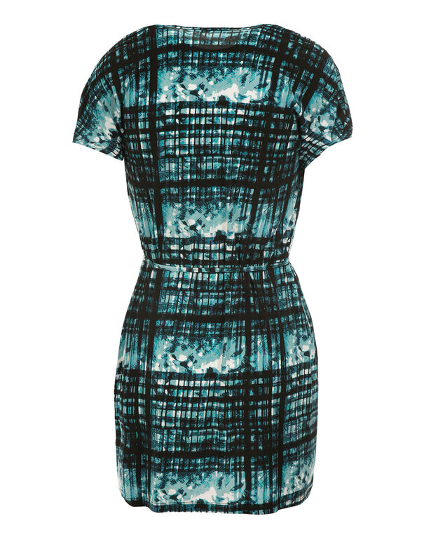 Crossover Tunic, Teal Print, hi-res