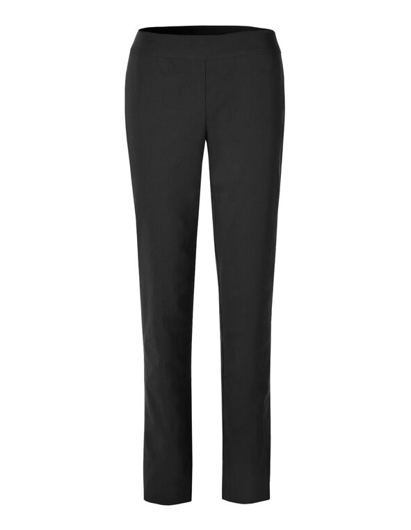 Black Slim Leg Signature Pant, Black, hi-res