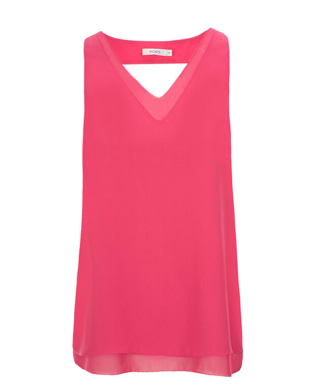 Cut-Out Back Blouse, Pink, hi-res