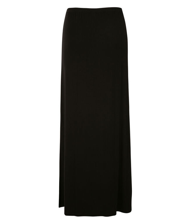 Knit Maxi Skirt, Black, hi-res