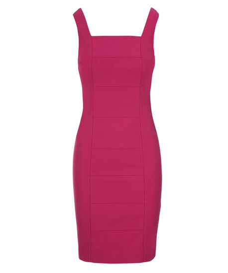 Banded Microtwill Dress, Vibrant Pink, hi-res