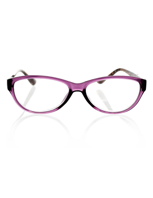 Purple Leopard Print Readers, Purple/Brown, hi-res