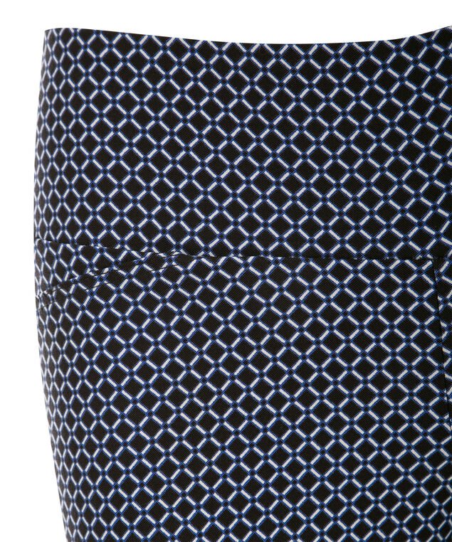 Microtwill Super Slim Leg, Black/Blue Print, hi-res