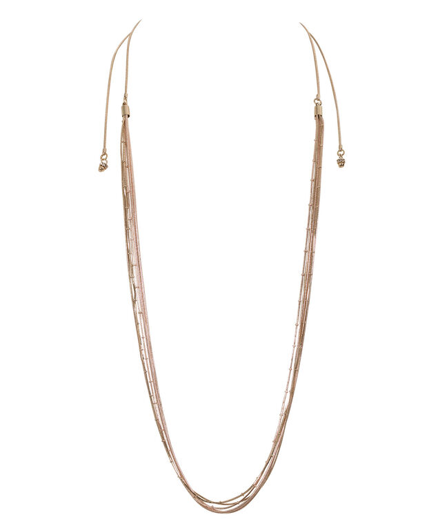 Convertible Necklace, Gold/Rose Gold, hi-res