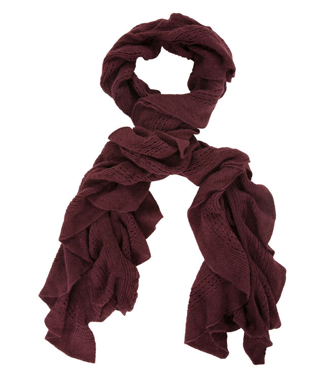 Ruffle Scarf, Chokecherry, hi-res