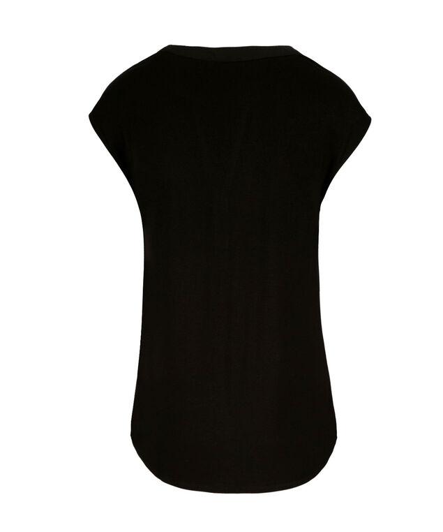 Extended Sleeve Henley, Black, hi-res