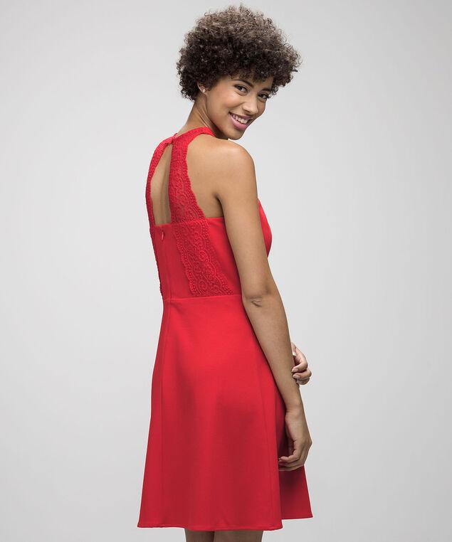 Spense Halter Lace Back Dress, Festive Orange, hi-res