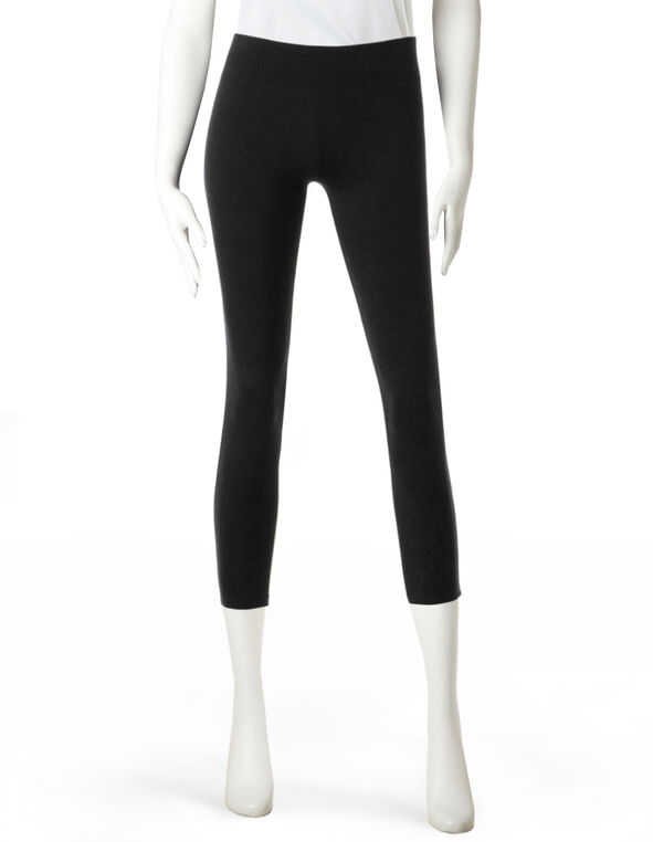 Black Pull-On Capri Legging, Black, hi-res