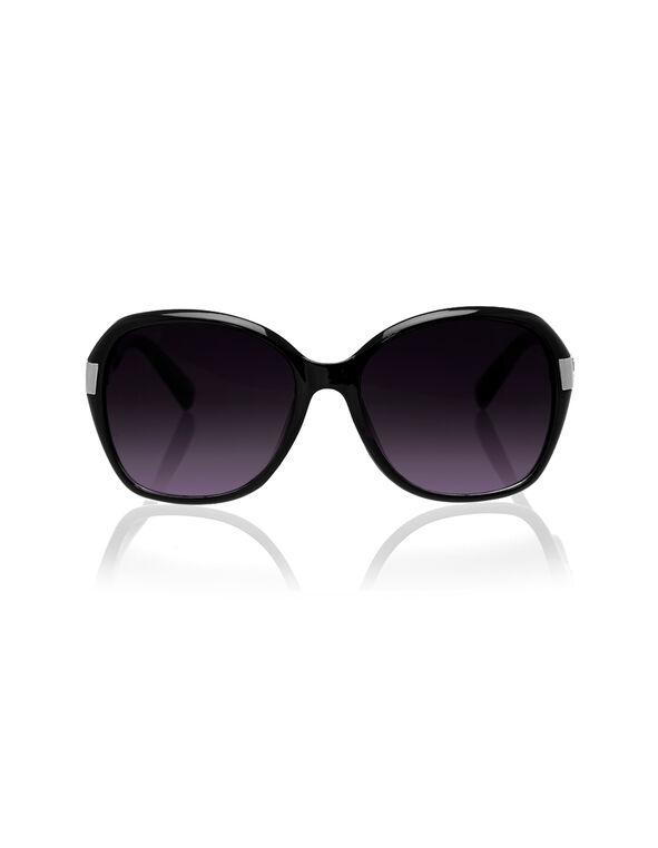 Black Frame Sunglasses, Black, hi-res