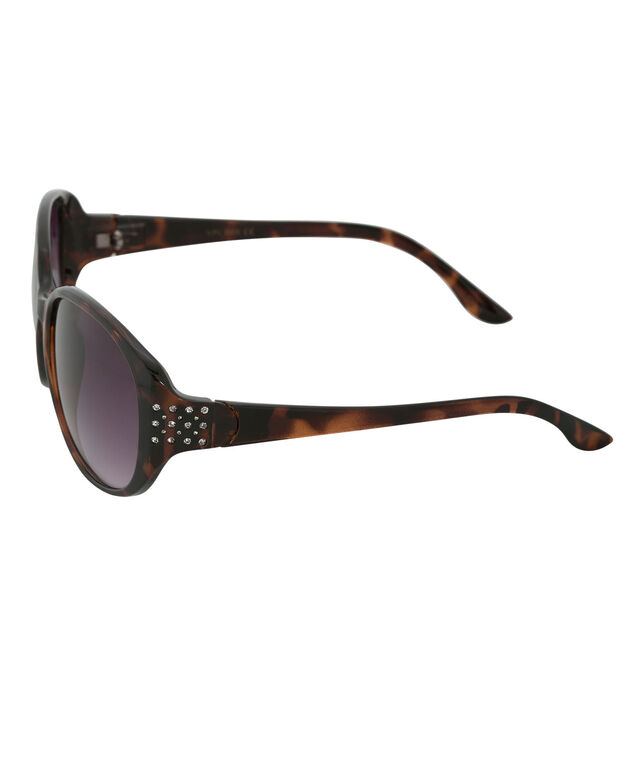 Temple Bling Sunglasses, Tortoiseshell, hi-res