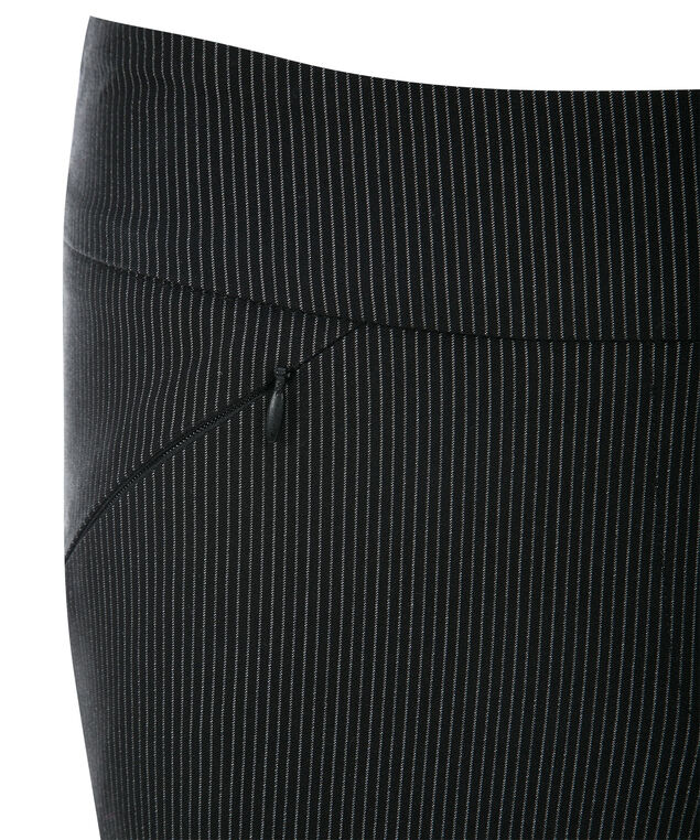 Microtwill Instant Smooth Slim, Black Pinstripe, hi-res