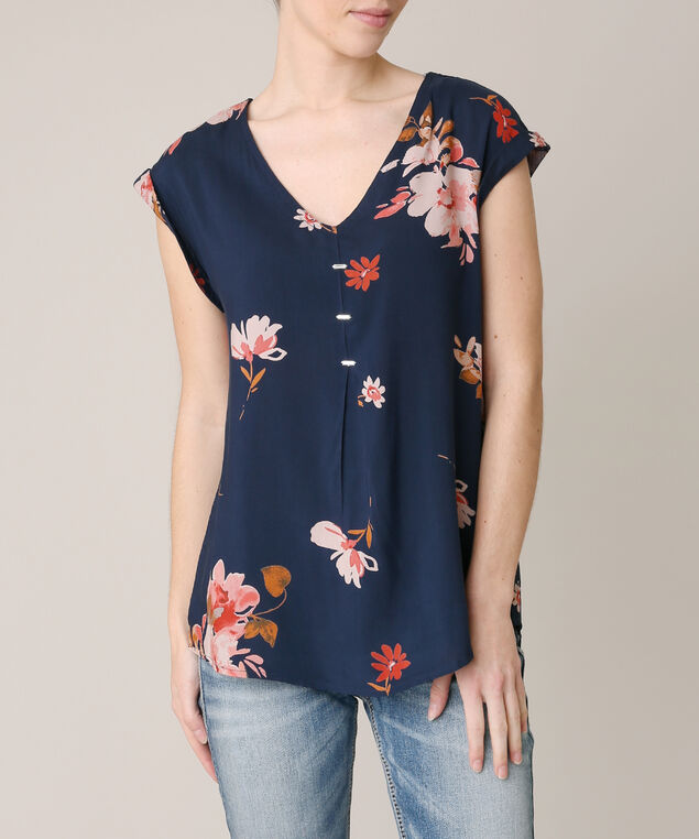 criss cross back top, NAVY, hi-res