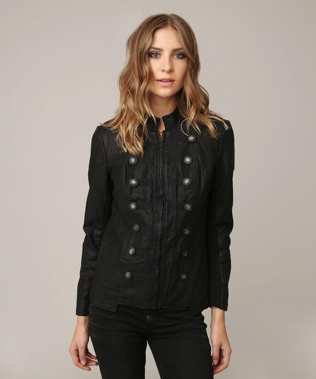 talisa leather jacket, BLACK, hi-res