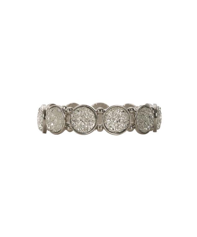 Circular Stone Bracelet, Rhodium, hi-res