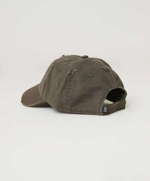 distressed ball cap, WASHED OLIV, hi-res