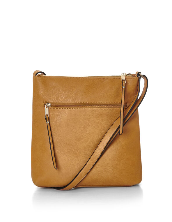 Saffron Flat Crossbody Bag, Saffron/Gold, hi-res
