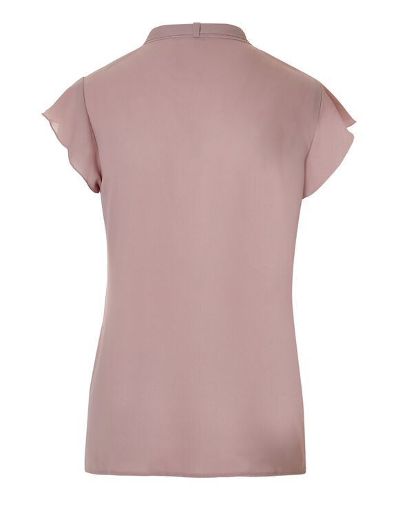 Rose Pink Bow Tie Blouse, Rose Pink, hi-res