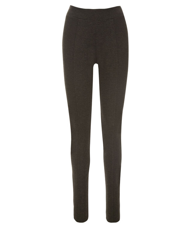 Luxe Ponte Legging - Short, Charcoal, hi-res