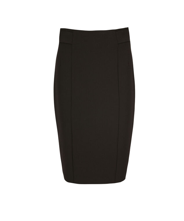 High Waist Pencil Skirt, Black, hi-res