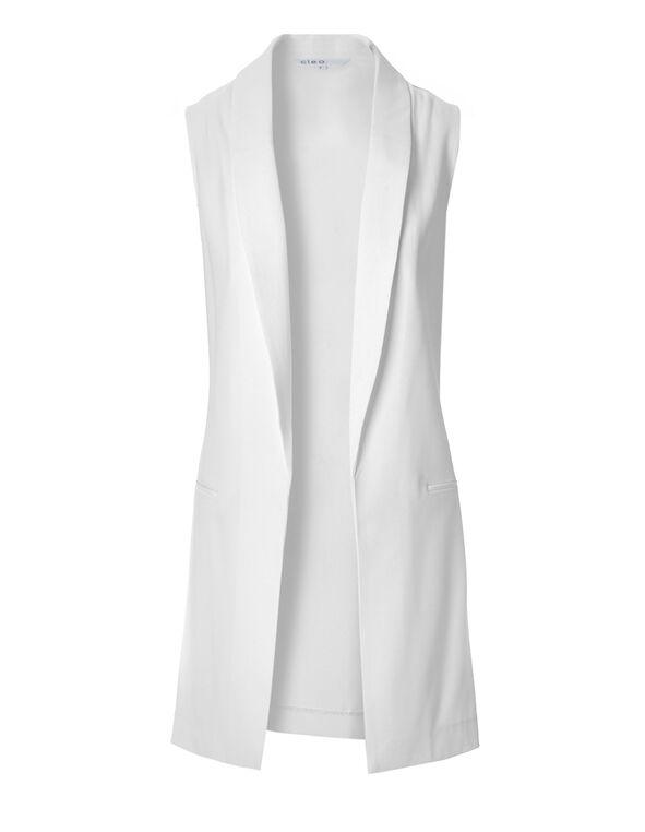 White Open Vest, White, hi-res