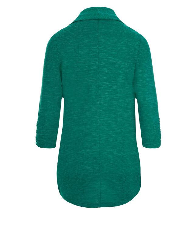 Shawl Collar Cover-Up, Aspen Green, hi-res