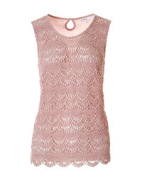 Soft Pink Crochet Blouse