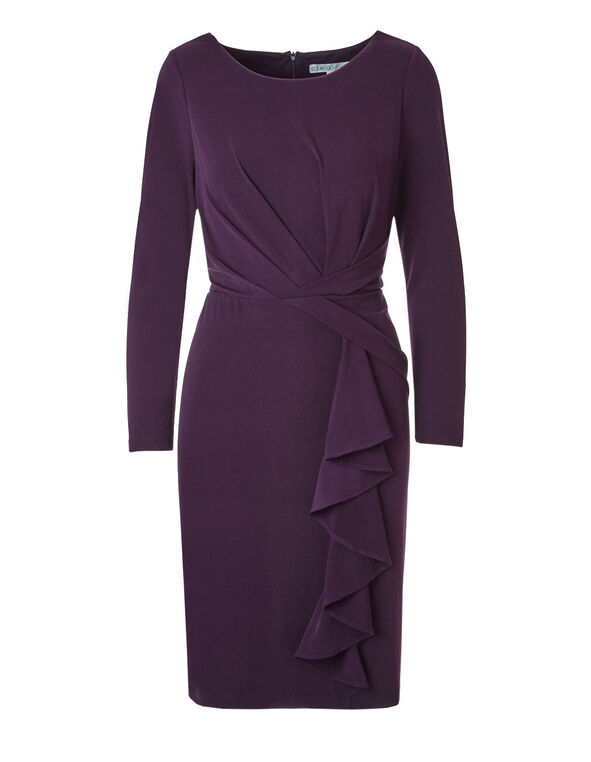 Plum Shift Dress, Deep Plum, hi-res