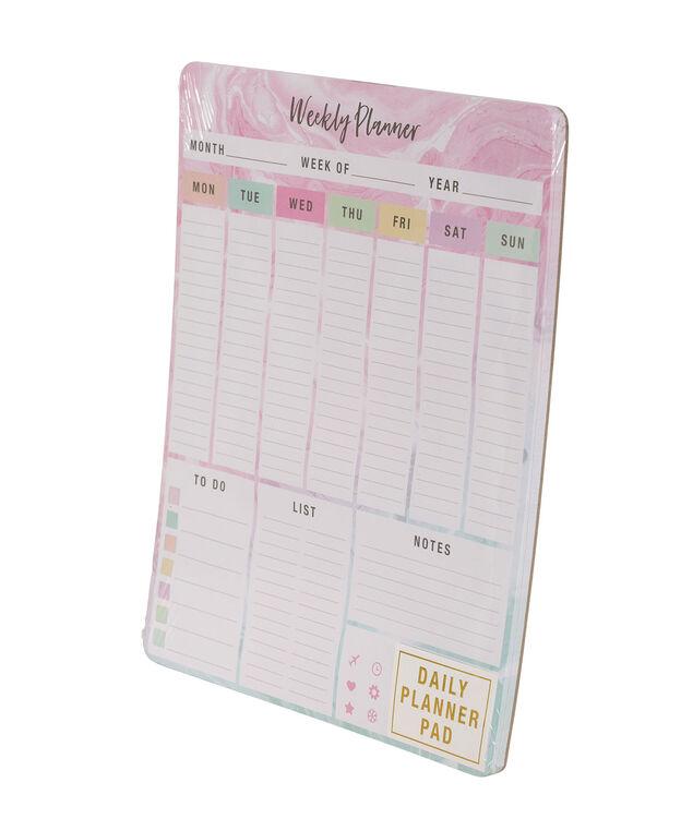 Floral Weekly Planner, Pink/Blue, hi-res