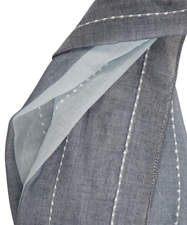 Colourblock Stripe Scarf, Navy/Light Blue, hi-res