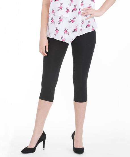 Knit Capri Legging, Black, hi-res