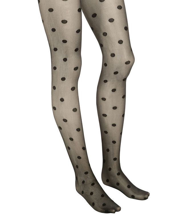 Polka Dot Tights, Black, hi-res