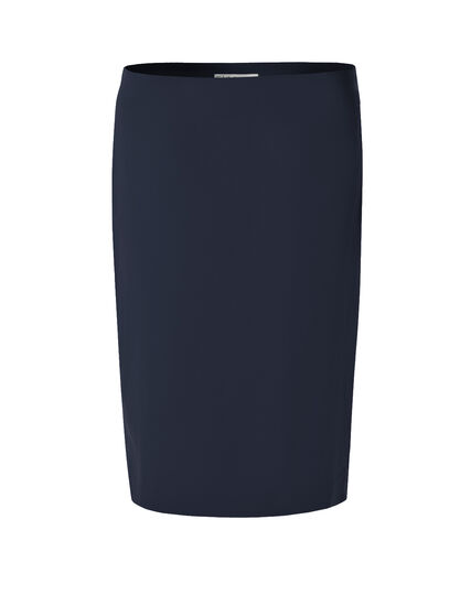 Navy Easy Pencil Skirt, Navy, hi-res