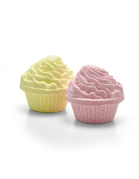 2 Pack Cupcake Fizzers, Pink/Yellow, hi-res