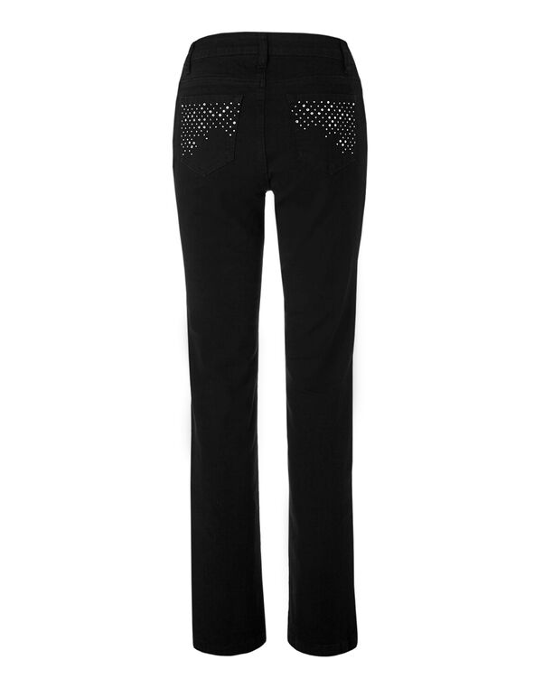 Curvy Fit Straight Leg Black Jean, Black, hi-res