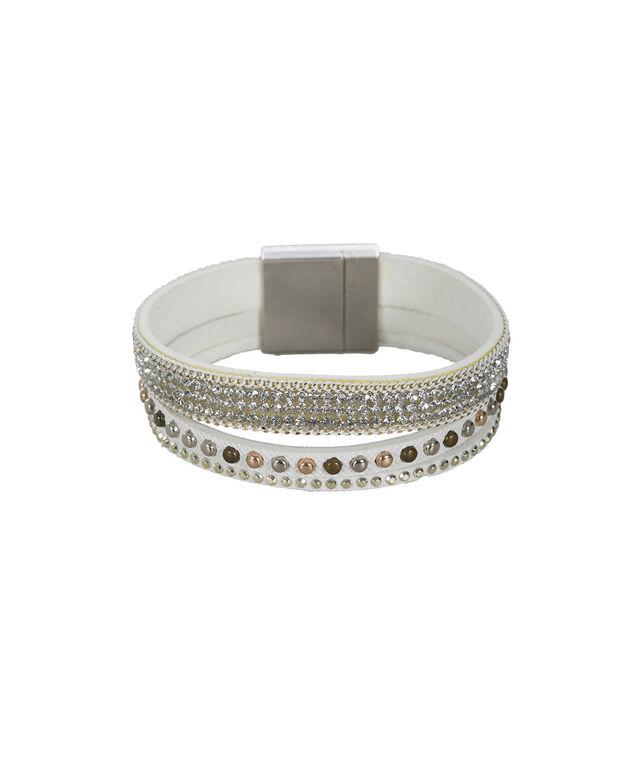 Magnetic Wrap Bracelet, White, hi-res
