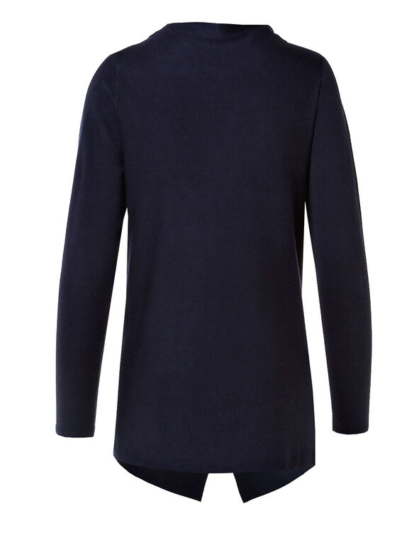 Navy Wrap Sweater, Navy, hi-res