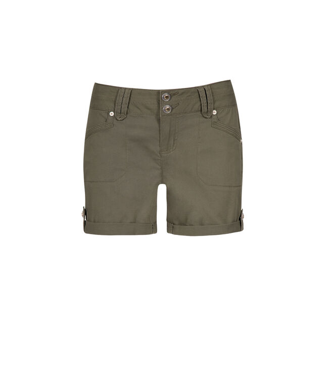 One5One Olive Cuffed Short, Olive, hi-res