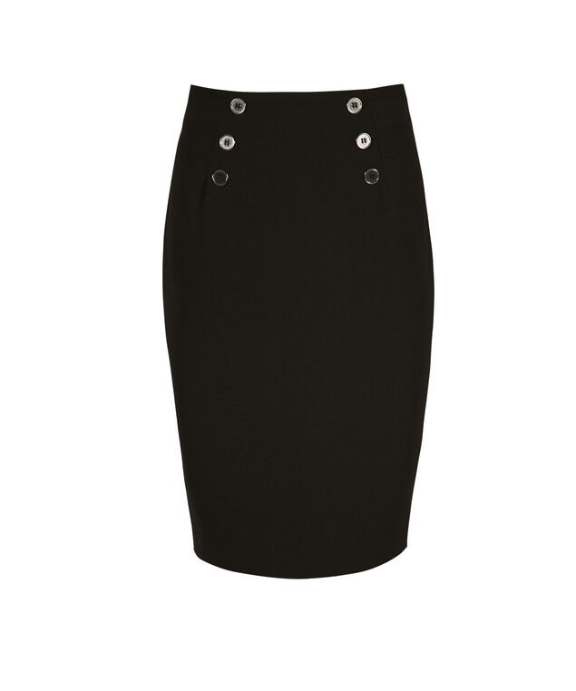 Highwaisted Sailor Skirt, Black, hi-res