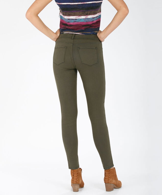 Ultimate Fly Front Jegging, Olive, hi-res