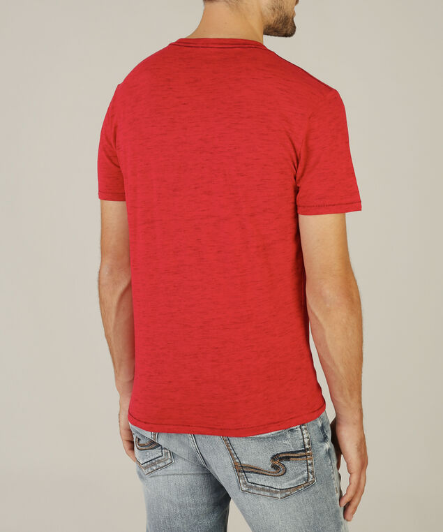 hinton v-neck, RED, hi-res
