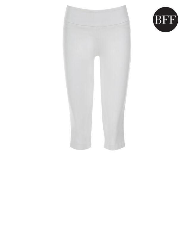 Microtwill Super Slim Leg Capri, True White, hi-res