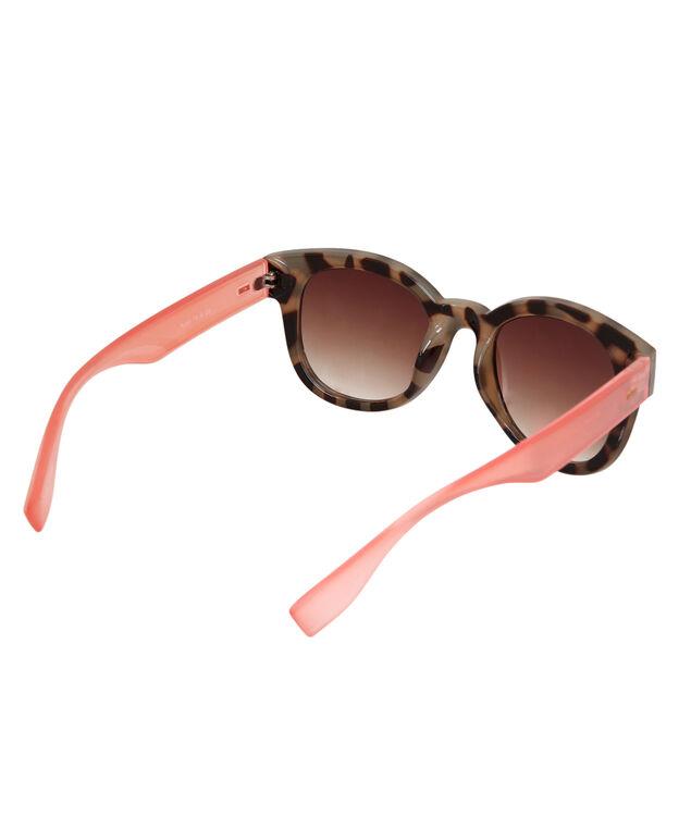 chunky frame sunglasses, TORT/PINK, hi-res
