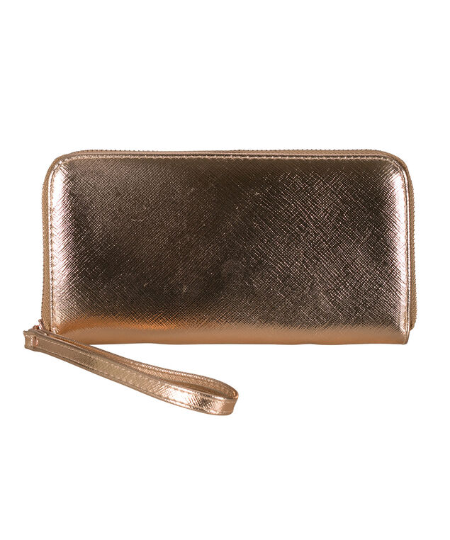 Rose Gold Phone Charging Wallet, Rose Gold, hi-res