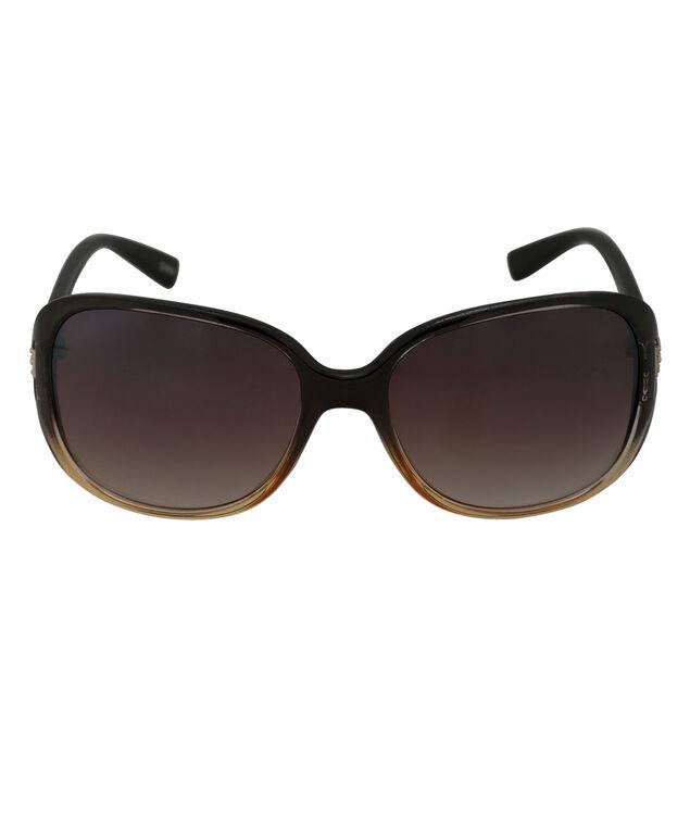 Ombre Temple Design Sunglasses, Brown, hi-res