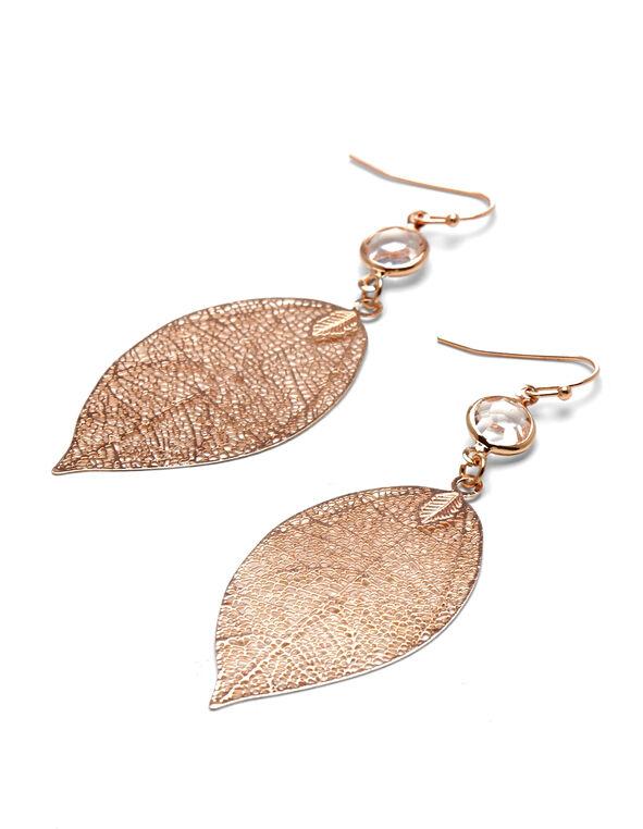 Rose Gold Leaf Earring, Rose Gold, hi-res