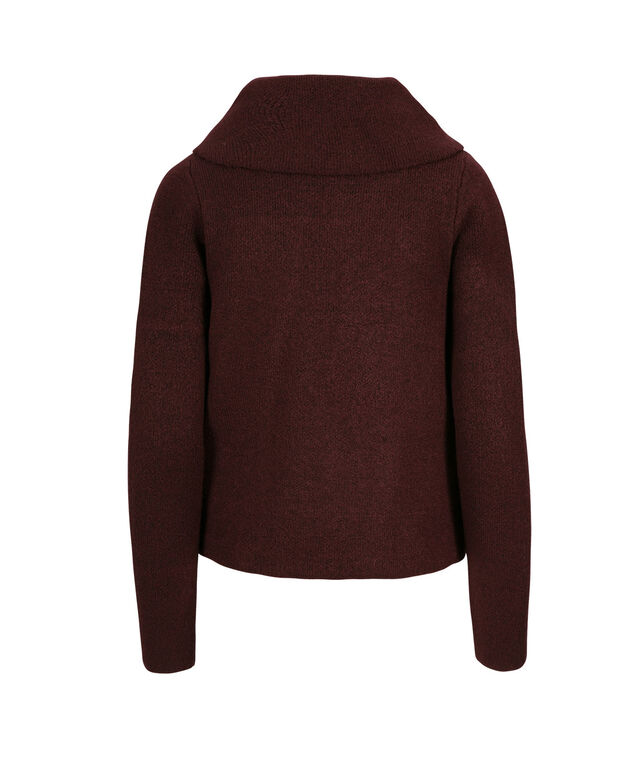 Sweater Jacket, Burgundy, hi-res